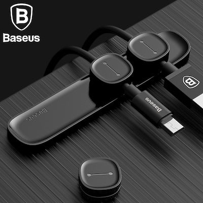 Baseus Magnetic Cable Clip For Mobile Phone USB Data Cable Organizer For USB Charger Cable Magnetic