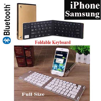Portable Wireless Bluetooth Keyboard / Smart Phones and Tablets Foldable Keyboard / IOS/ Android