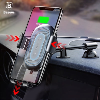 Baseus QI Wireless Charger Gravity Car Holder For iPhone X 8 Quick Charge Wireless Car Phone Holder