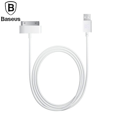 Baseus Original 1.2M 30pin USB data Cable For Apple Data Sync 30pin USB Cable For iPhone 4 4S ipad 1