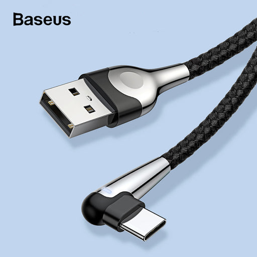 Ready Stock Singapore BASEUS MVP Elbow 1.5A USB Type-C Data Sync Charge Cable 1M For Samsung Sony LG