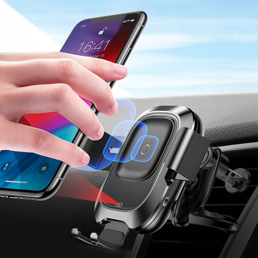 ReadyStock Singapore Baseus IPhone X XS Max Car Infrared Sensor Qi Fast Wireless Charger Holder Stand