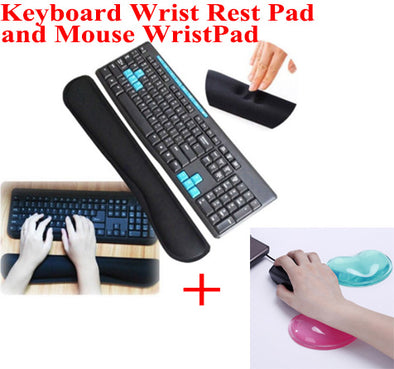 Non Slip Keyboard and Mouse Pad Mousepad Wrist Rest Support Pad Set for Computer and Laptop
