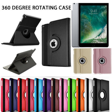 "iPad Case 360 Rotating Stand Flip Cover Fit For iPad 234 Mini Air 2017 9.7"" 10.5"