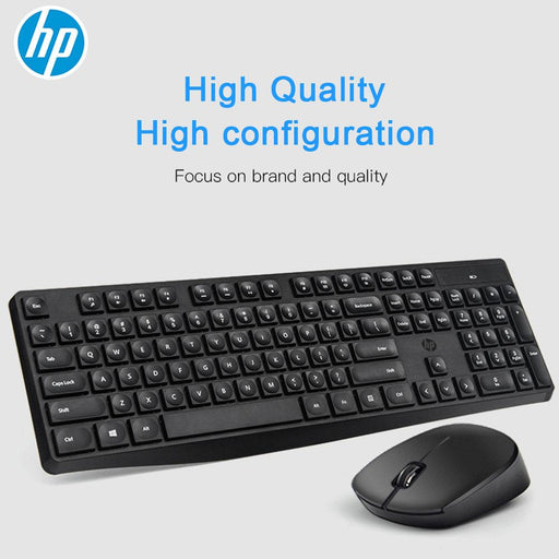 HP CS10 Wireless Keyboard Mouse Combo Gaming Office Mice & Keyboard Set Black Color