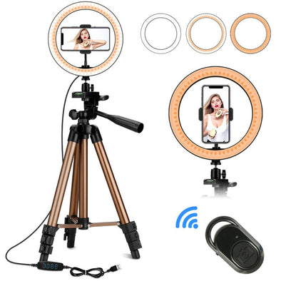 "10""  Ring Light with Tripod Stand & Phone Holder"