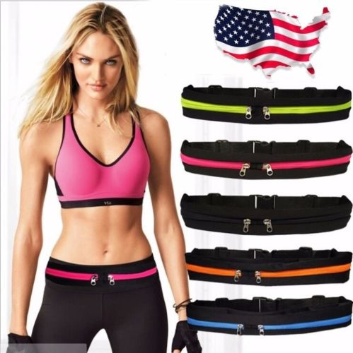 Gym Fitness Sport Runner Waist Bum Bag Running Jogging Belt Pouch Zip Fanny Pack