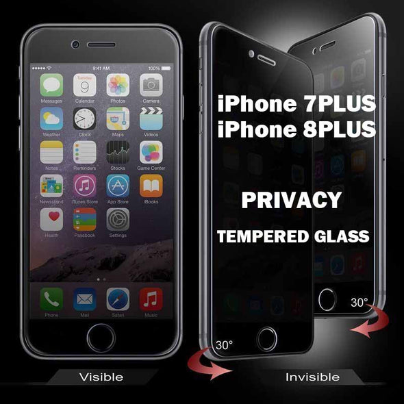 iPhone 7Plus iPhone 8Plus Privacy Tempered Glass Screen Protector full Coverage