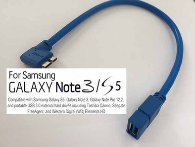 20cm L Shape Micro USB OTG Adapter Cable for Note 3 S5
