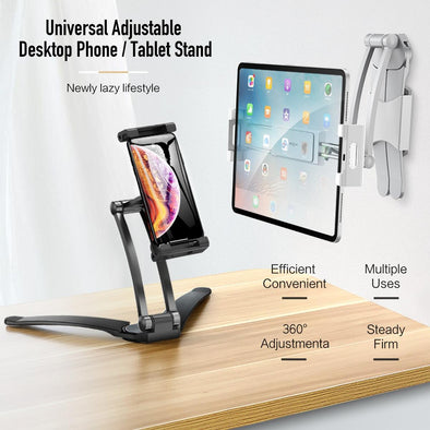 Adjustable Tablet Phone Holder For iPad 2 3 4 Air Mini Pro For iPhone 360 Degree Roating Desktop Stand For 5-10.5 Inch