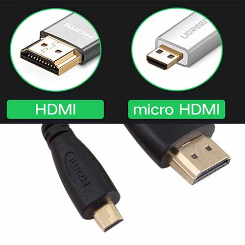 HDMI(A/Male) to Micro HDMI(D/Male) cable (1.8m)