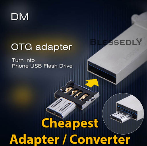 OTG Thumbdrive with OTG Converter Adapter
