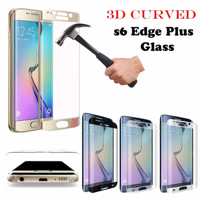 Tempered Glass 3D Curved Full Screen Protector Film For Samsung Galaxy S6 Edge  Plus