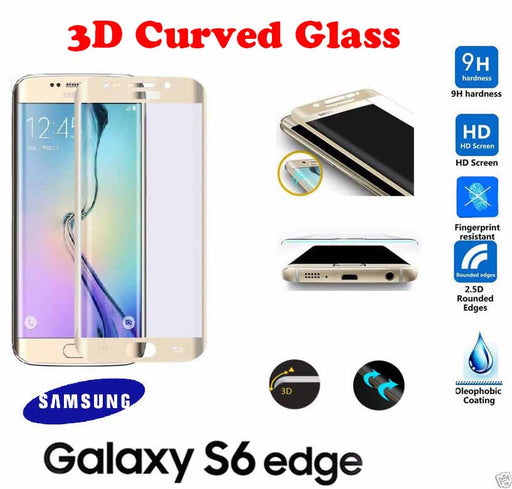Tempered Glass 3D Curved Full Screen Protector Film For Samsung Galaxy S6 Edge