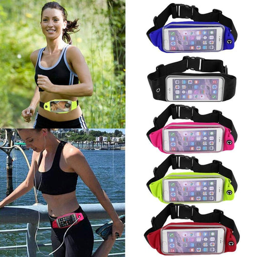 Waist Pack Universal Sports Running Workout Fitness Waist Belt Pouch With Clear for iPhone X, iPhone 8 7 6s 6 PLUS, Note 8, Galaxy S8 Plus and more