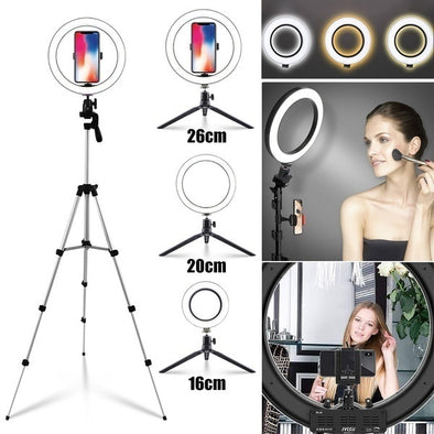LED Ring Light Selfie Stand Dimmable selfie light 100cm
