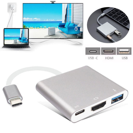 Type C to HDMI with 3.0 USB Port and Charging Adapter