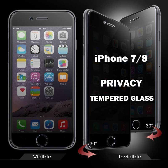 iPhone 7/8 Privacy Tempered Glass Screen Protector full Coverage