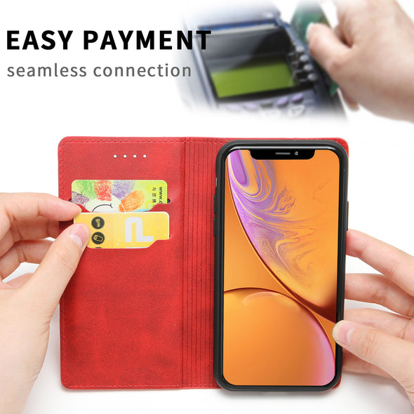 [1 Piece Free Tempered Glass] Multifunctional Phone Case Wallet ★ Holds Your Phone, Cash and Cards ★ For iPhone