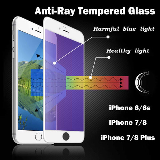 Anti Ray Tempered Glass for iPhone 6/6s iPhone 7/8 7Plus 8Plus