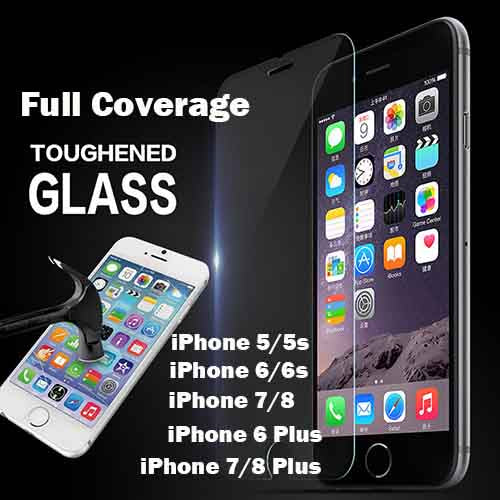 iPhone 8 Plus/7 Plus Tempered Glass  [0.2MM][Full Coverage]