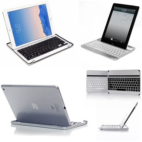 Bluetooth Wireless Keyboard Dock Stand Case Cover