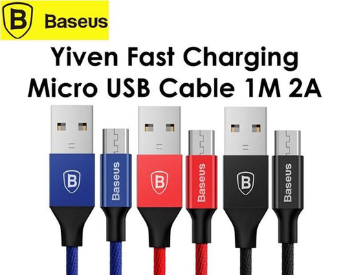 Ready Stock Singapore Baseus Yiven Android Micro 2A - Fast Charge Charging CABLE [1M]