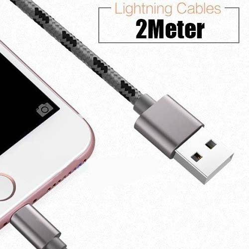 2M Durable Braided Lightning Cable