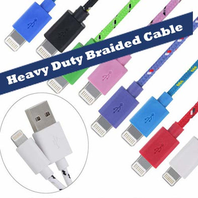 Heavy Duty Braided Lightning Cable