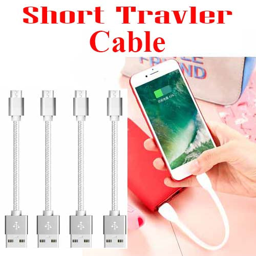Silky Durable 23cm Short  Micro USB  Lightning Cable