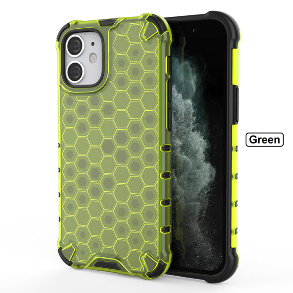 [ Free Tempered Glass ] Honeycomb  Rugged Air iPhone Case