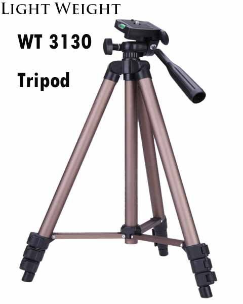 Weifeng WT3130 Protable Lightweight Aluminum Camera Tripod with Rocker Arm Carry Bag for Canon Nikon Sony DSLR Camera DV Camcorder