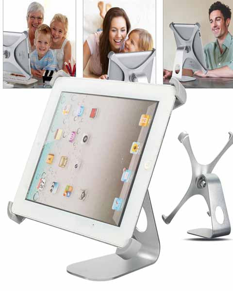 360° Rotatable Aluminum Alloy Desktop Holder Stand for Tablet Apple iPad Air/ Air 2
