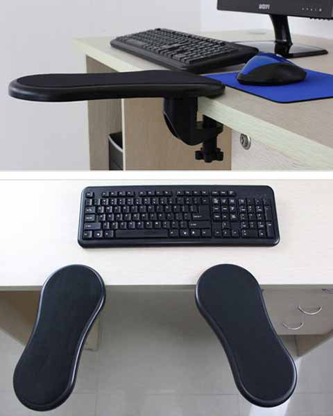 Computer Hand Bracket Table with Mouse Pad N Wrist Coaster Rotatable Arm Holder 45cm Computer Table Splint Wrist Brace Keyboard Support Mouse Hand Bracket