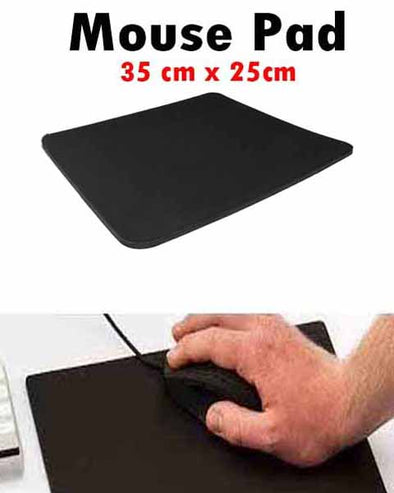 Black Slim Thin Comfortable Optical Mouse PAD Mouse Mat Anti-Slip