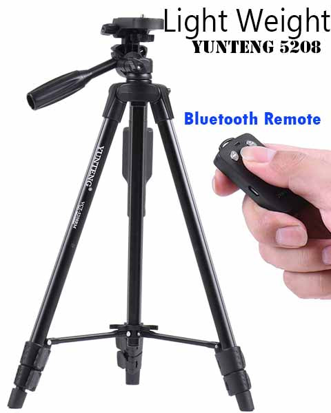 Light Weight Yunteng 5208 Black Edition Monopod Tripod GoPro Hero5 Digital Camera iPhone Xiaomi