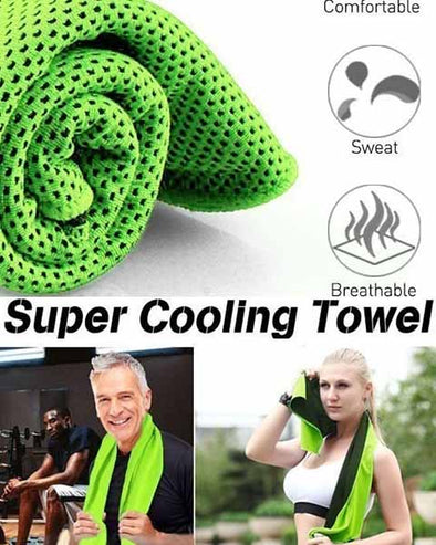 Romix Bottled Package Instant Ice Cold Cooling Towel Heat Relief For Camping, Gym, Golf, Swimming, Sports