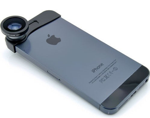 iPhone accessories :4-in-1 180° Fish Eye Fisheye + Wide Angle + Macro Lens Kit for iPhone 5/5S