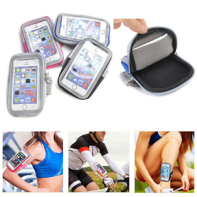 For Mobile Phone Holder Pouch Belt GYM Universal Running Arm Band Case Bag