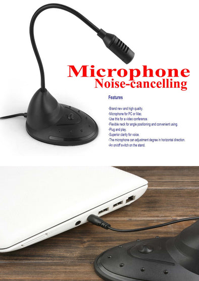 Flexible Neck Desktop Microphone (3.5mm Jack)