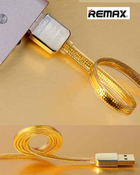 Remax Gold Lightning / USB Micro Cable