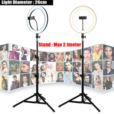 10 inch/26cm  LED Ring Light Selfie stick with Tripod Stand Phone Holder