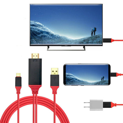 MHL to HDMI Cable adapter HDTV (Type C & Charging Cable )