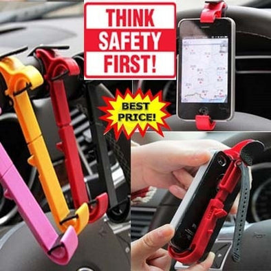Mobile Holder Car Steering Wheel Phone Cradle Mounted Holder And Smart Clip For Car/Bike Mobile Phone Accessories