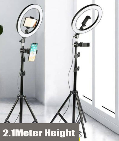 Selfie Ring Light 36cm Dimmable LED with 210cm Stand