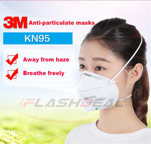 iFlashDeal 3M 9501 N95 Dust Mask Mouth Face Mask Particulate Disposable Respirator Cycling Anti Haze Mask Anti-fog Anti PM 2.5 Dust Face Mask Folding Respirator