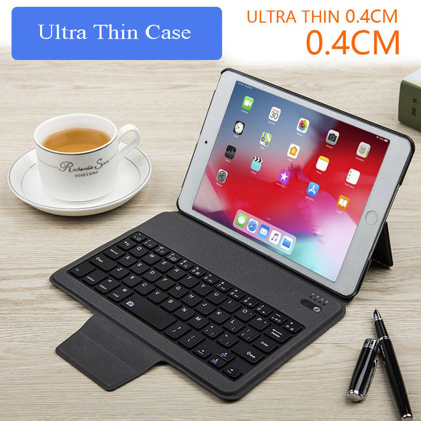 Wireless Keyboard  Bluetooth Keyboard Fine Pattern Leather Case
