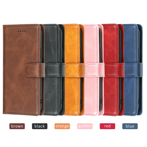 [1 Piece Free Tempered Glass] Wallet Case with Card Holder for  iPhone