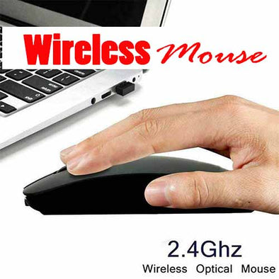 Super Slim Wireless Laptop Computer Mouse 2.4Ghz