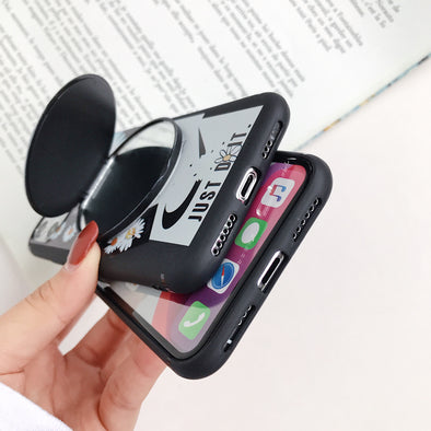 iPhone Soft TPU Case for i6 i7/8 iX iphone 11 with Mirror Holder